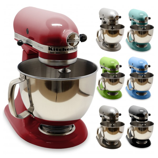 New kitchenaid artisan ksm150ps 5 qt tilt head stand mixer with pouring shield ebay - Kitchenaid mixer bayleaf ...