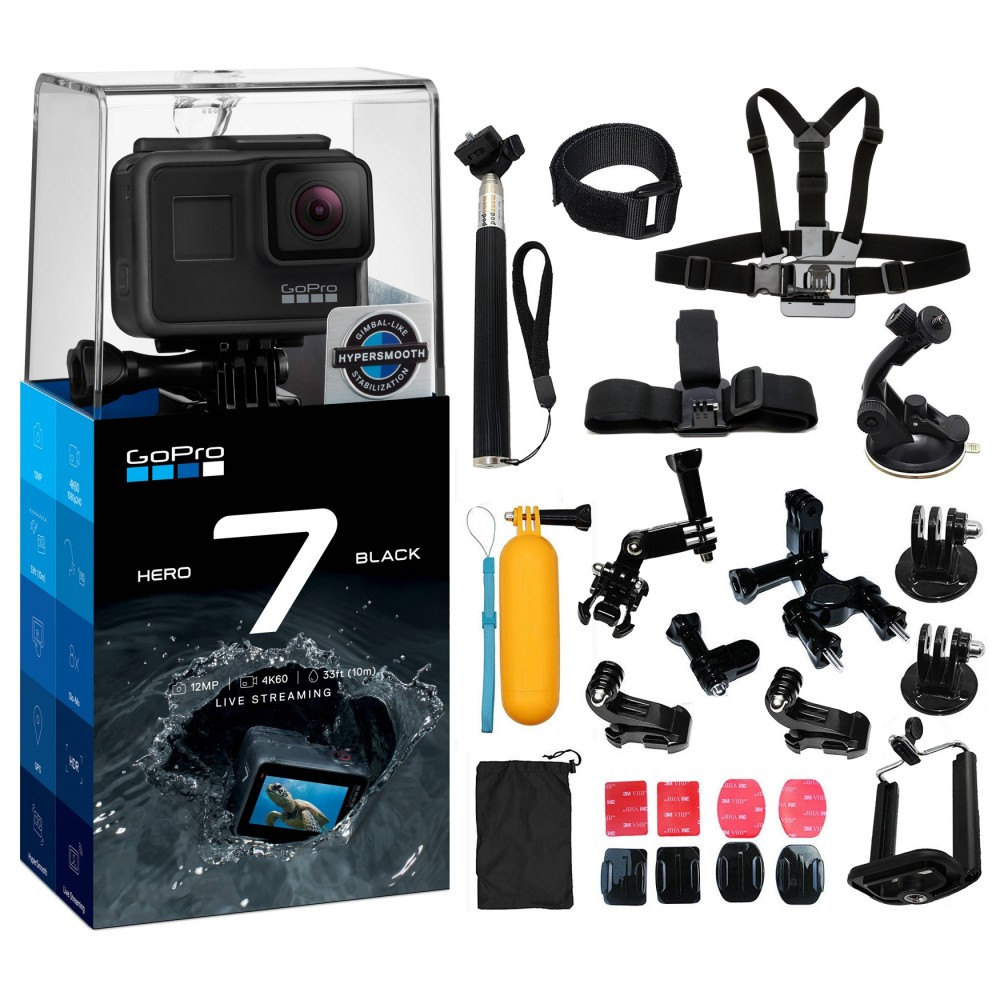 Details about GoPro Hero7 Black All You Need Accessory Kit for Hero 7  Action Camera Camcorder